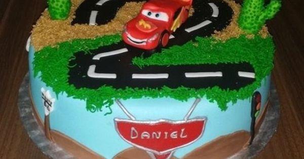 Birthdaycake cars boy lightning mc queen verjaardagstaart jongen cars bliksem mc queen - Deco ruimte jongensbaby ...