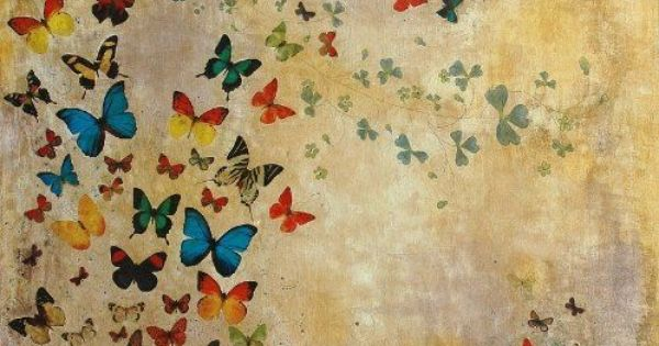 Summer Butterflies ~ artist Lily Greenwood, c.2007, mixed media art journal