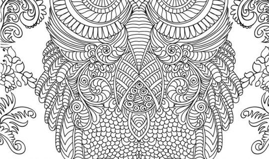 owl abstract coloring pages - photo#26