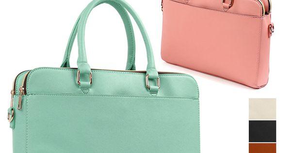 Hit Women Tote Briefcases Laptop Bags Boston Shoulder ...