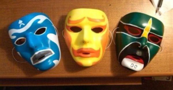 3 ninjas masks my man painted funzies pinterest