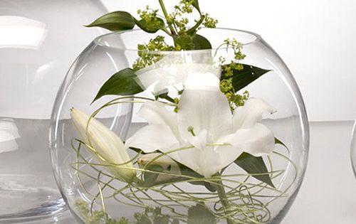 Vase Boule Verre 500 561 Art Floral Pinterest Table Verre Vase Boule Et