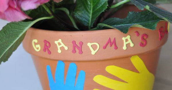 Easy Mother's Day Crafts - Grandma's flower pot