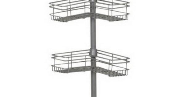 Bathroom Organizing Solutions Shower Pole Caddy 4 Basket