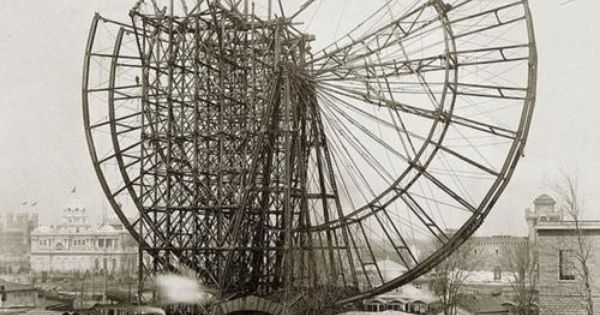 1893 Best Images About Bakery On Pinterest: Picturesintheattic: Building The Very First Ferris Wheel