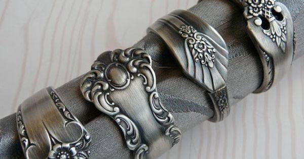 Silver spoon jewelery Silversked smycken, här servettring