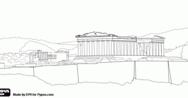 The Acropolis Of Athens With The Parthenon Temple In Honor Of The