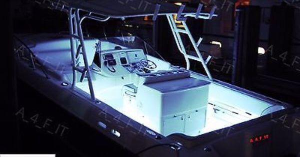 85823 Boat Parts White Led Boat Lights Kit Waterproof Pod Bright Led Strips Marine Interior Buy It Now Only 39 99 Wh Led Boat Lights Boat Lights Bright Led