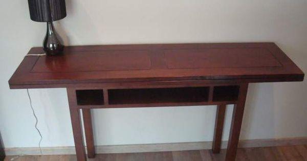Table console extensible en bois ameublement paris for Table sam extensible