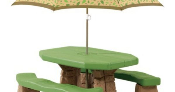 Step2 Naturally Playful Picnic Table With Umbrella With Images