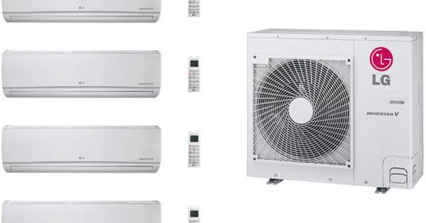 Lg Lg36kb139 4 Room Mini Split Air Conditioning System With Heat