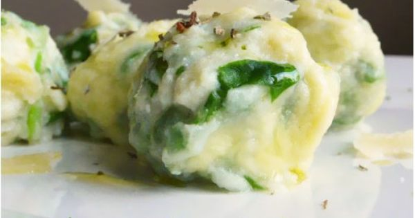 Spinach and Ricotta Gnudi. (Naked Ravioli) *recipe in ...