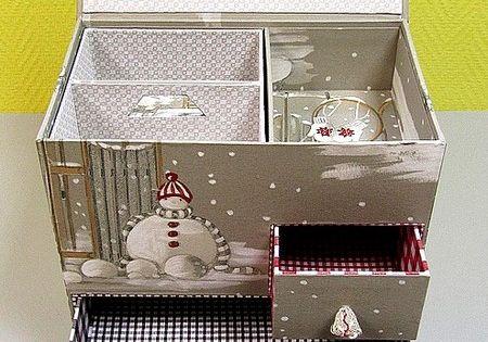 les mesures de la bo te no l d 39 yolande cartonnage et compagnie reciclar cart n. Black Bedroom Furniture Sets. Home Design Ideas