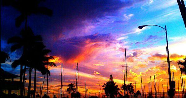 Waikiki Beach Hi Sunset Wanderlust Pinterest