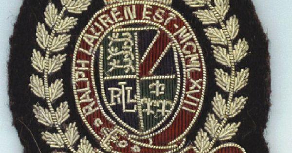 ralph lauren vintage 1967 crest logo embroidered designer emblem crown patch crest logo logos. Black Bedroom Furniture Sets. Home Design Ideas