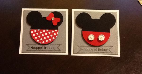 Minnie Mouse Mickey Mouse birthday cards stampin' up ...