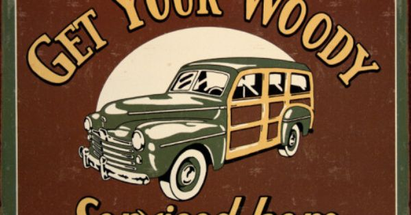 Woody Service Tin Sign Allposters Co Uk Vintage Tin Signs