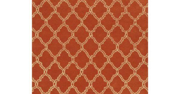 Geometric Handmade Tufted Wool Orange Area Rug Orange Area Rug Area Rugs Orange Rugs