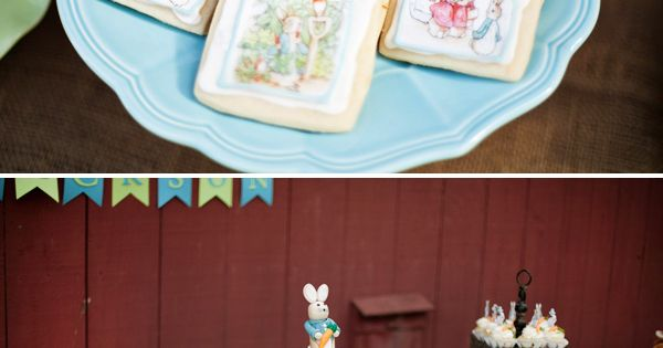 Gorgeous Peter Rabbit First Birthday {Garden Party} - love the Beatrix Potter