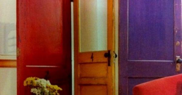 Biombo hecho con puertas space divider made of doors - Puertas de biombo ...