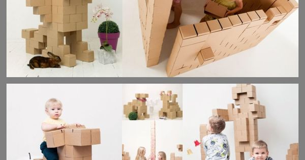 how to make cardboard building blocks