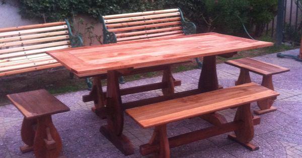 Comedor de terraza en madera de roble artesanias - Comedor de terraza ...