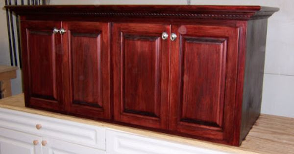 Red Mahogany Oak Cabinets Kress Woodworks Lafayette