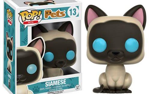 Pop Pets Siamese Pop Vinyl Figure Entertainment Earth Pet Pop Pop Vinyl Figures Funko Pop Dolls