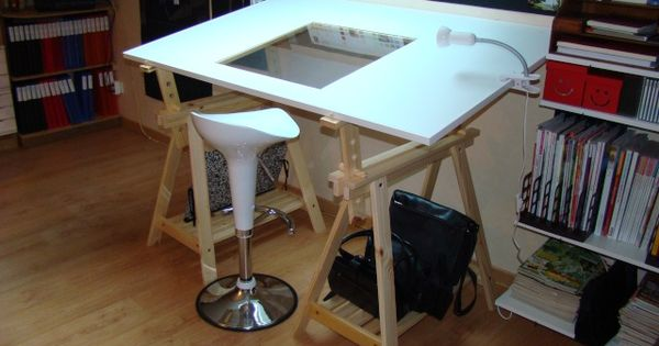 une table dessin diy pinterest table dessin et bureau. Black Bedroom Furniture Sets. Home Design Ideas