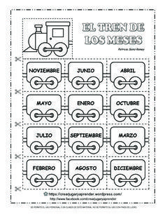 El Tren De Los Meses Del Año Aula De Español Recursos De