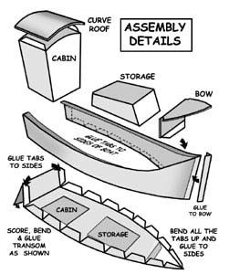Lobster Cannery Buildings Cardboard Boat Paper Boat Template Paper Boat
