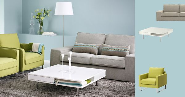 Kivik Two Seat Sofa With Ten 246 Light Grey Cover Mellby