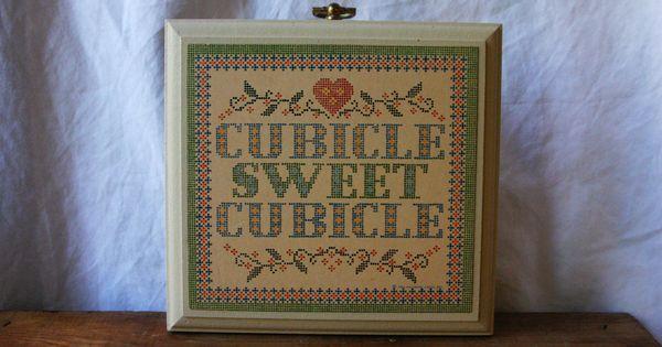 Vintage hallmark plaque vintage cubicle plaque cubicle for Hallmark fairy door