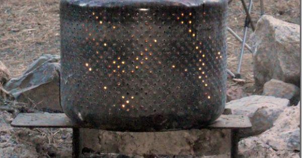 washing machine drum turned firepit. Hmmm cleaver idea