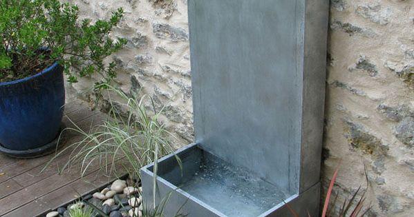 fontaine de jardin en zinc fontaine zinc murale a debordement osmose sarl id 233 es pour le