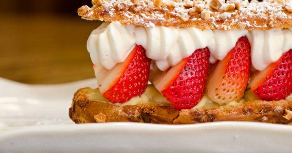 Strawberry-Chamomile Eclair: Almond Pate a Choux ...