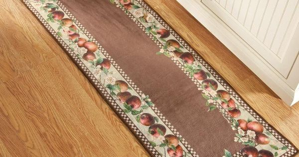 Apple Decor Runner Kitchen Rug Country Decor Apple Blossom