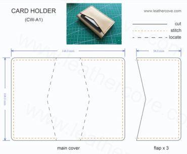 Bifold Card Wallet Pattern Pdf Leather Card Wallet Pattern Diy Leather Wallet Pattern Card Wallet Pattern