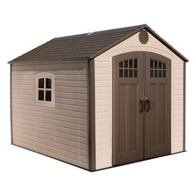 Lifetime Products Gable Storage Shed Common 8 Ft X 10 Ft Actual Interior Dimensions 7 5 Ft X 9 5 Ft Item 538387 Mo With Images Shed Cabin Storage Shed Shed Sizes