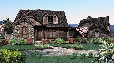 Stone Mountain Elevation Change : Plan wg stone cottage with flexible garage