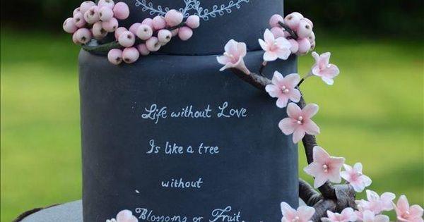 Blushy Blossoms & Berries Wedding Cake - Cake by Mila ...