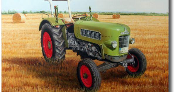 Olgemalde Traktor Fendt Farmer 2 Fendt Farmer Fendt Traktor