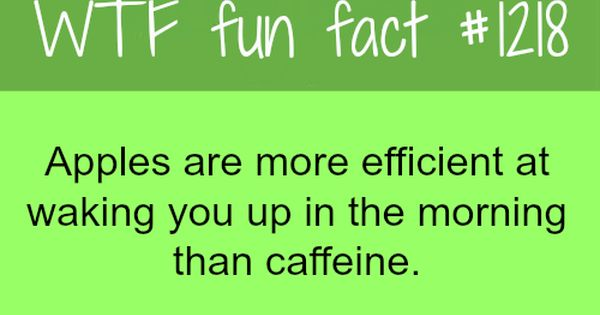 health facts: apples are more efficient than caffeine at waking ...
