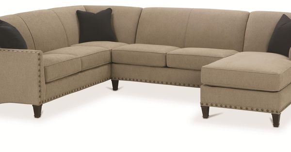 Rowe Rockford Traditional 3 Piece Sectional With Chaise Darvin Furniture Sofa Sectional