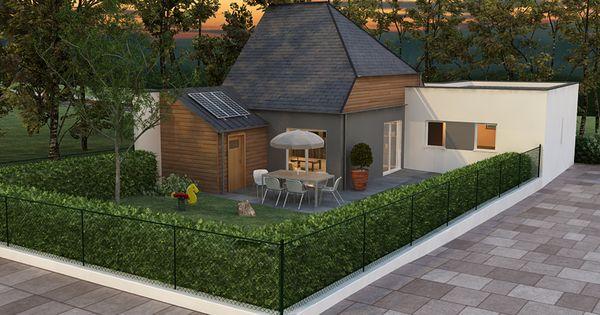 Architecture 3d ext rieur maison jardin anoukis for Exterieur maison 3d
