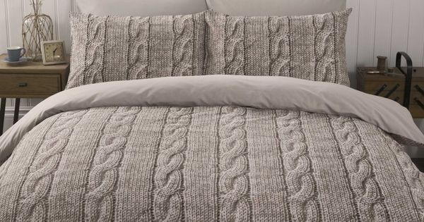 Cable Knit Duvet Cover Set For Winter Beautiful Bedrooms
