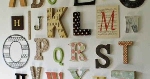 alphabet wall art for kids room or playroom