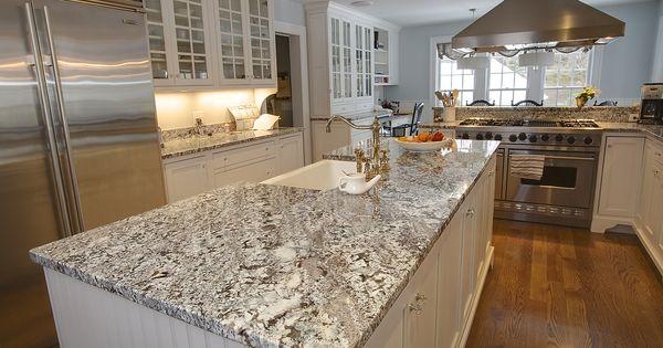 Antique ice granite and pencil edge 2 kitchen for Aran world kitchen cabinets