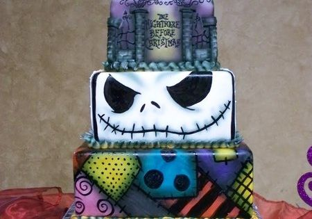 Nightmare before christmas halloween cake