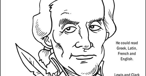 Thomas Jefferson Coloring Page Coloring Pages